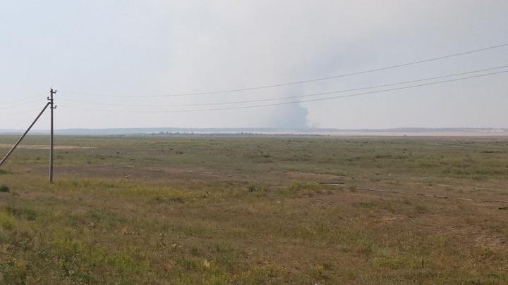 На юге Челябинской области полыхает лес