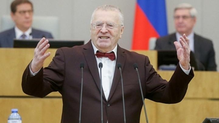 Жириновский предложил сократить депутатов в два раза