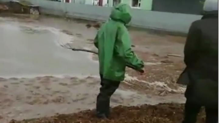 В хуторе Краснодарского края река вышла из берегов