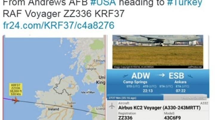 Террористы могли отслеживать перелеты Терезы Мэй в Flight Radar