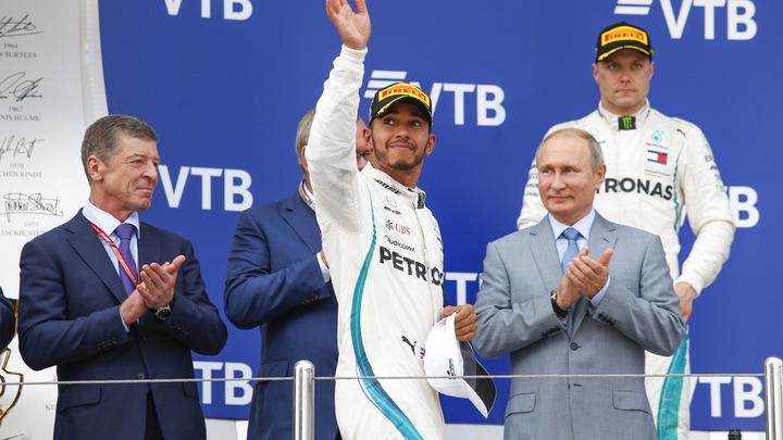 «Это был не я!»: Победитель Гран-при «Формулы 1» в Сочи пообещал не обливать Путина шампанским