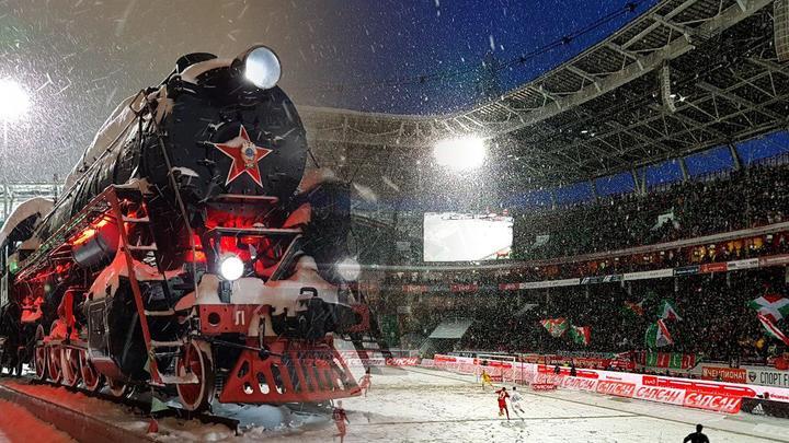 Локомотив и Спартак увязли в снегу