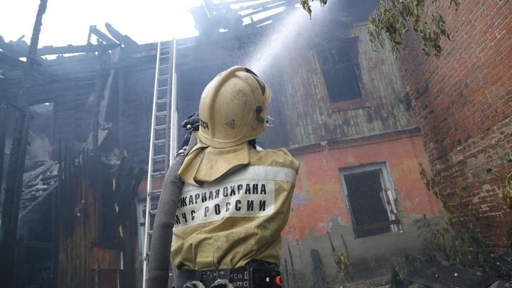 В центре Кургана случился крупный пожар
