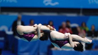 Бажина и Ильинских взяли бронзу на ЧМ по водным видам спорта