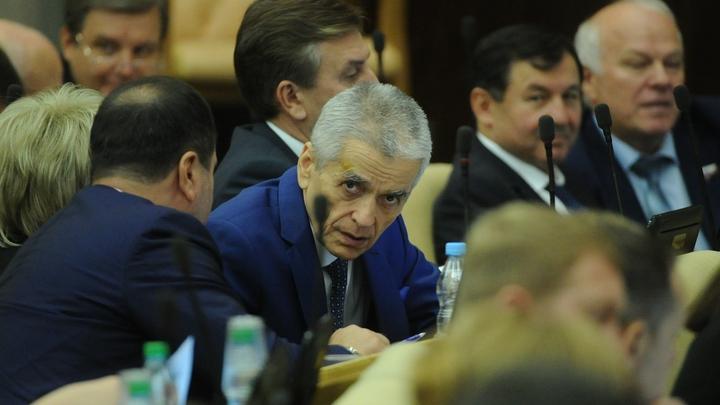 Онищенко раскритиковал власти за олимпийское спокойствие по поводу спиннеров