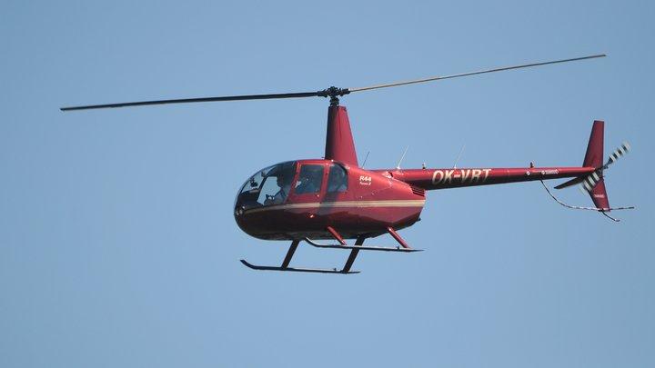 В США вертолет едва не разбился, жестко сев на улицу