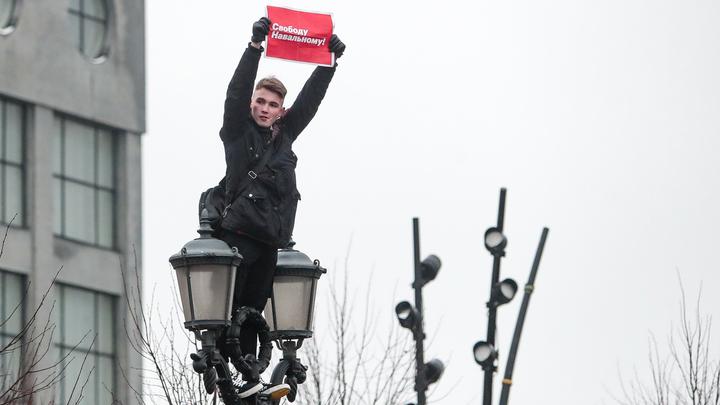 Итоги субботних протестов в поддержку Навального:Подсчитано число задержанных