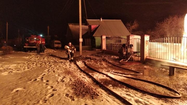 В Муроме в крещенскую ночь сгорел двухквартирный дом