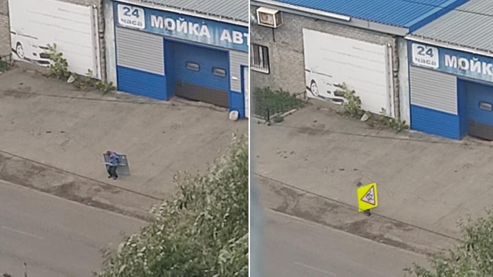 В Челябинской области дети воруют дорожные знаки и хвастаются этим в соцсети
