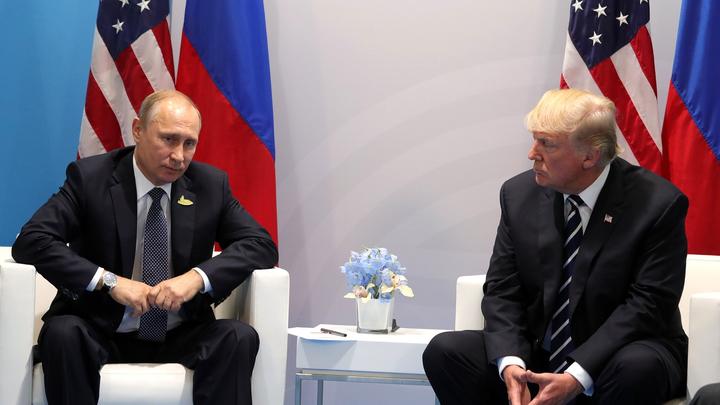 Путин рукопожатием ответил на приветствие Трампа - видео