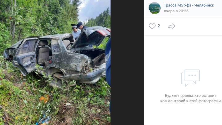 Водитель перевернувшегося на трассе в Челябинской области авто погиб