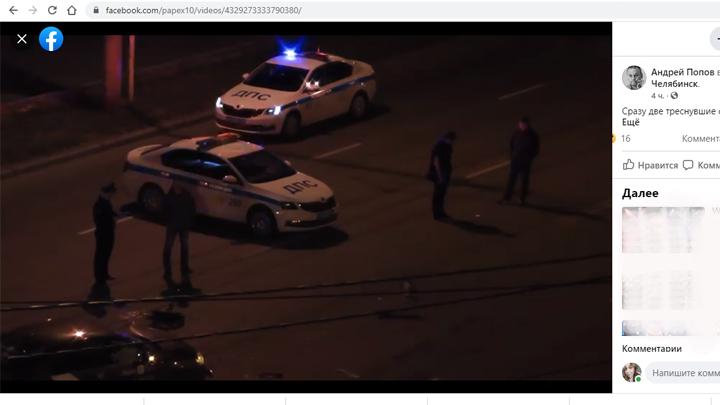 Мотоциклист, угоняя от ГИБДД, разбился в Челябинске
