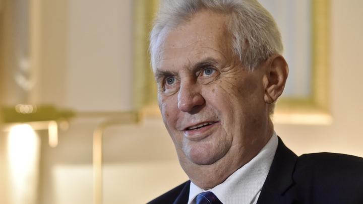 Земан возмутился позицией трусливого ЕС по Иерусалиму