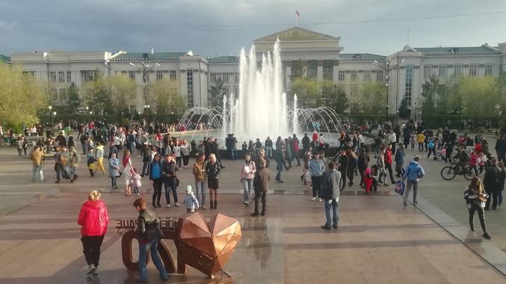 Завершаем водные процедуры: фонтан на площади Ленина в Чите отключат 20 сентября