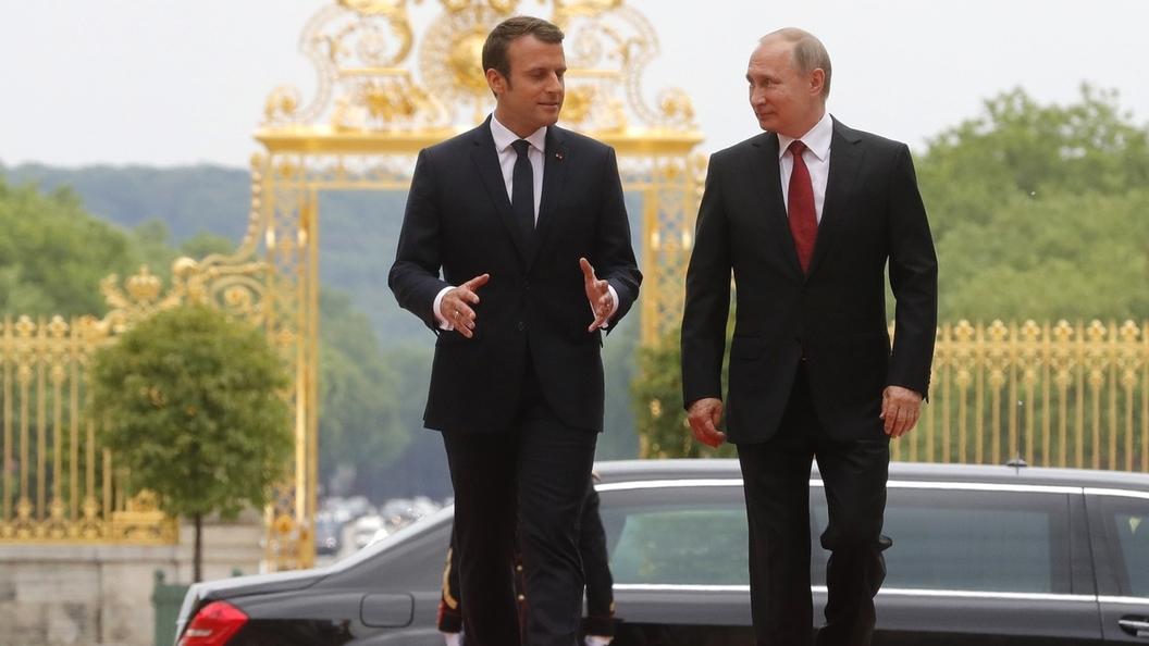 Эмманюэль Макрон подтвердил Владимиру Путину свое участие вПетербургском международном экономическом консилиуме