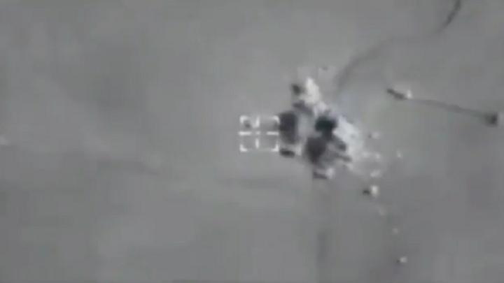 Первые кадры: ВКС уничтожили боевиков, участвовавших в атаке военной полиции России