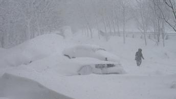 Штормовой ветер и снег обесточили более 20 поселков на Сахалине