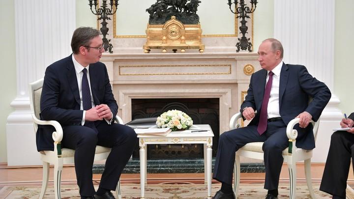 «Не только Косово»: Песков рассказал, о чем будут говорить Путин и Вучич