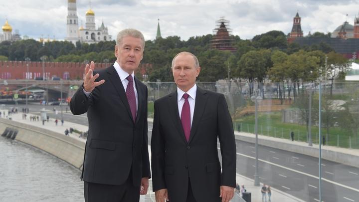 Собянин посвятил Путина в свои планы о ближайшем будущем Москвы