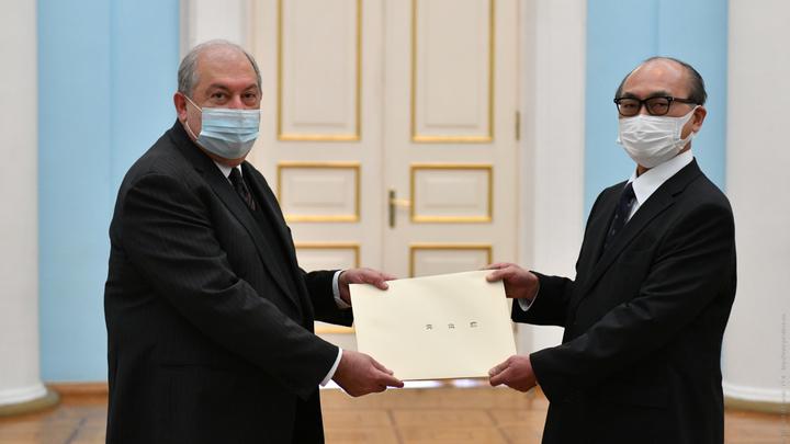 В Армению прибыл новый посол Японии