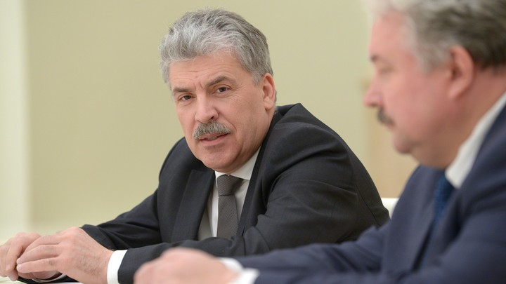 Экс-кандидат на выборах Грудинин предложил смену названия должности президента России