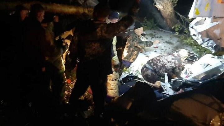 Видео с места крушения L-410 под Иркутском: Чудо, что люди выжили