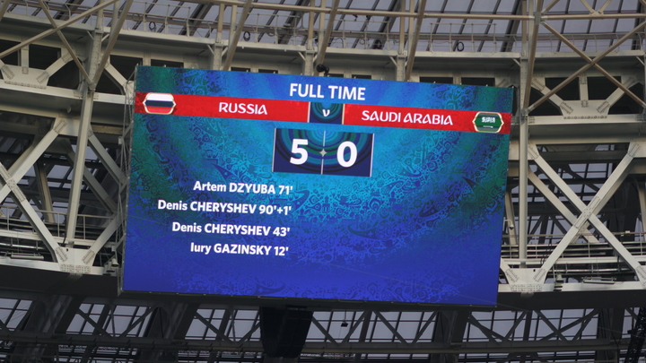 Попытка высмеять победу России в первом матче ЧМ-2018 закончилась бедой для британского СМИ