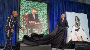 Портрет Обамы сравнили с самым страшным в мире фильмом