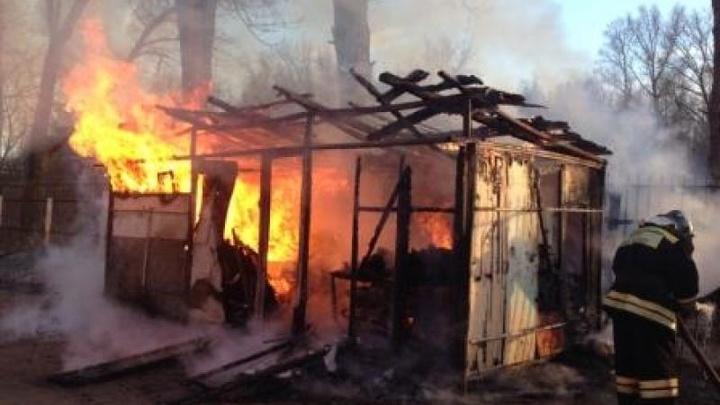 В ночь на 15 июня в Кинешме сгорели секционные сараи