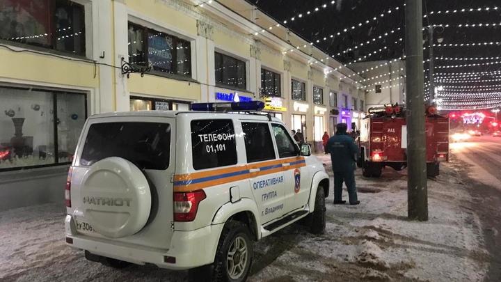 В центре Владимира горел магазин Гусевской хрусталь