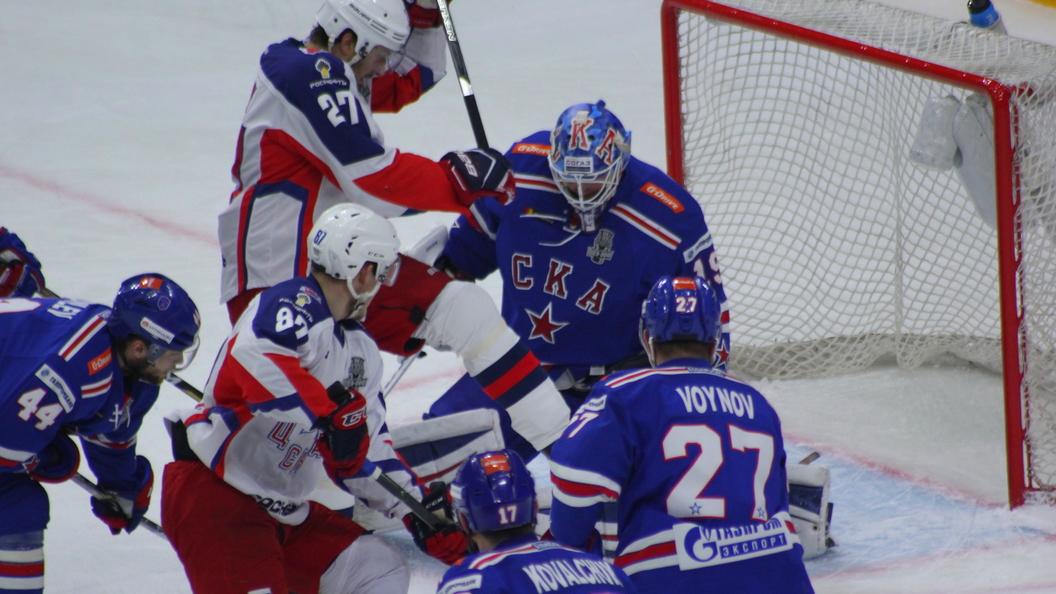 ЦСКА сравнял счет вполуфинальной серии плей-офф КХЛ соСКА