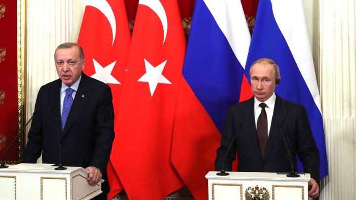 В Кремле раскрыли пять тем переговоров Путина и Эрдогана