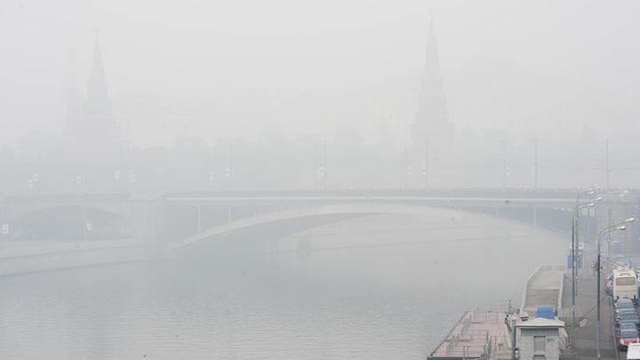 МЧС предупреждает, что Москва начинает уходить в полный туман