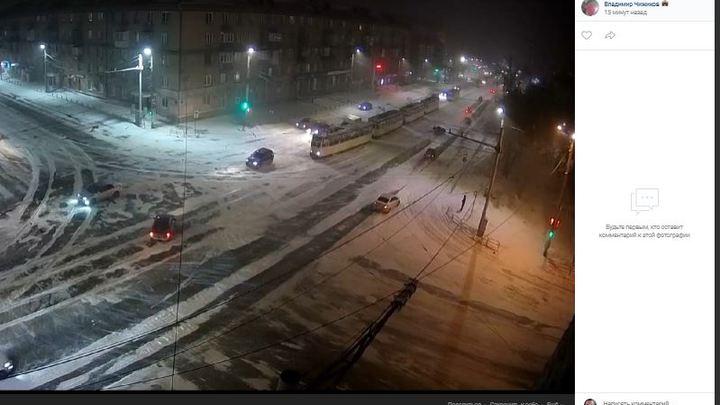 В Челябинске из-за мороза массово встали трамваи